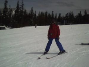 Vanessa Skiing